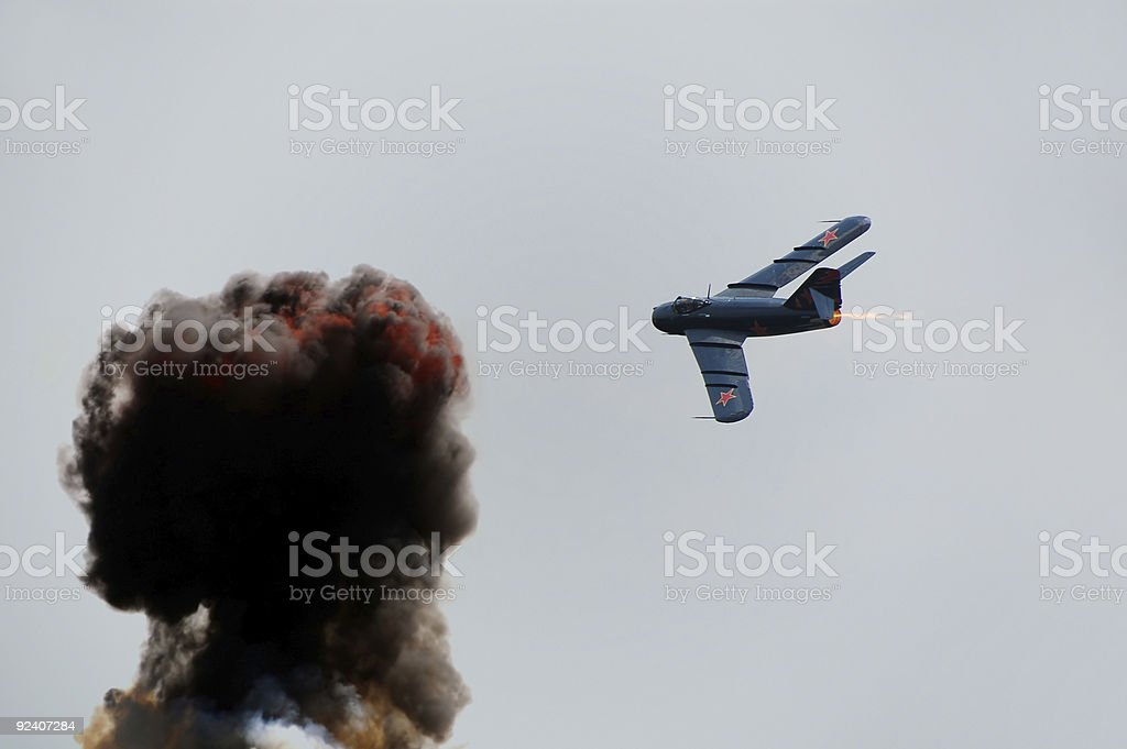Jetfighter on a mission royalty-free stock photo