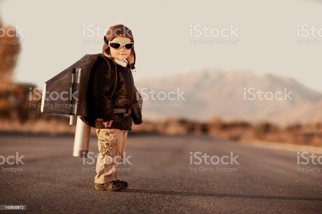 Jetpack Kid stock photo