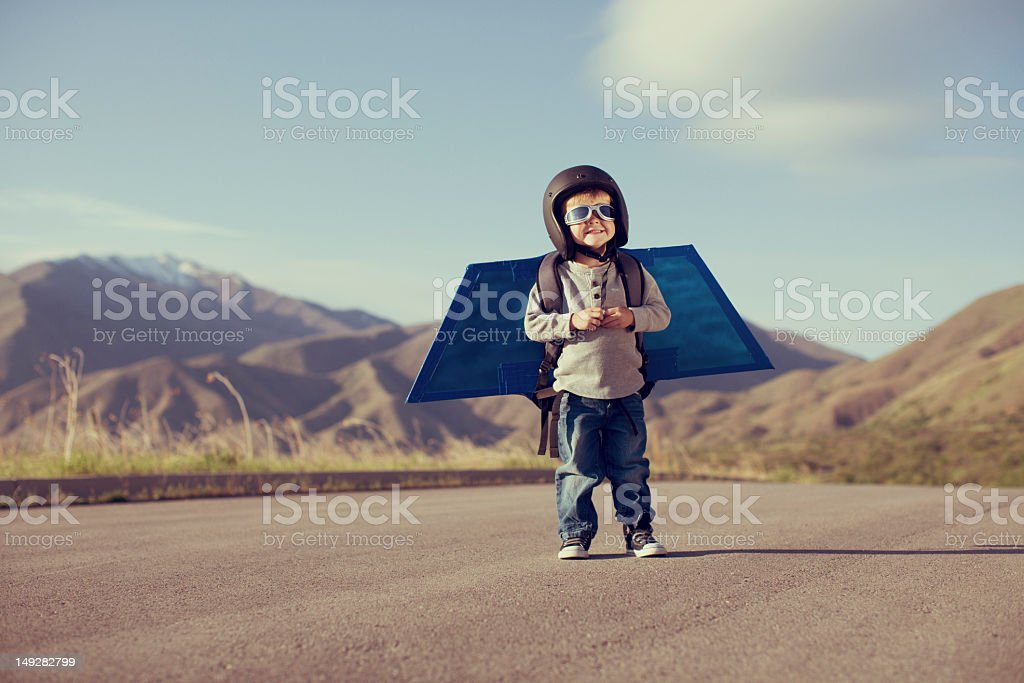 Jetpack Kid stock photo