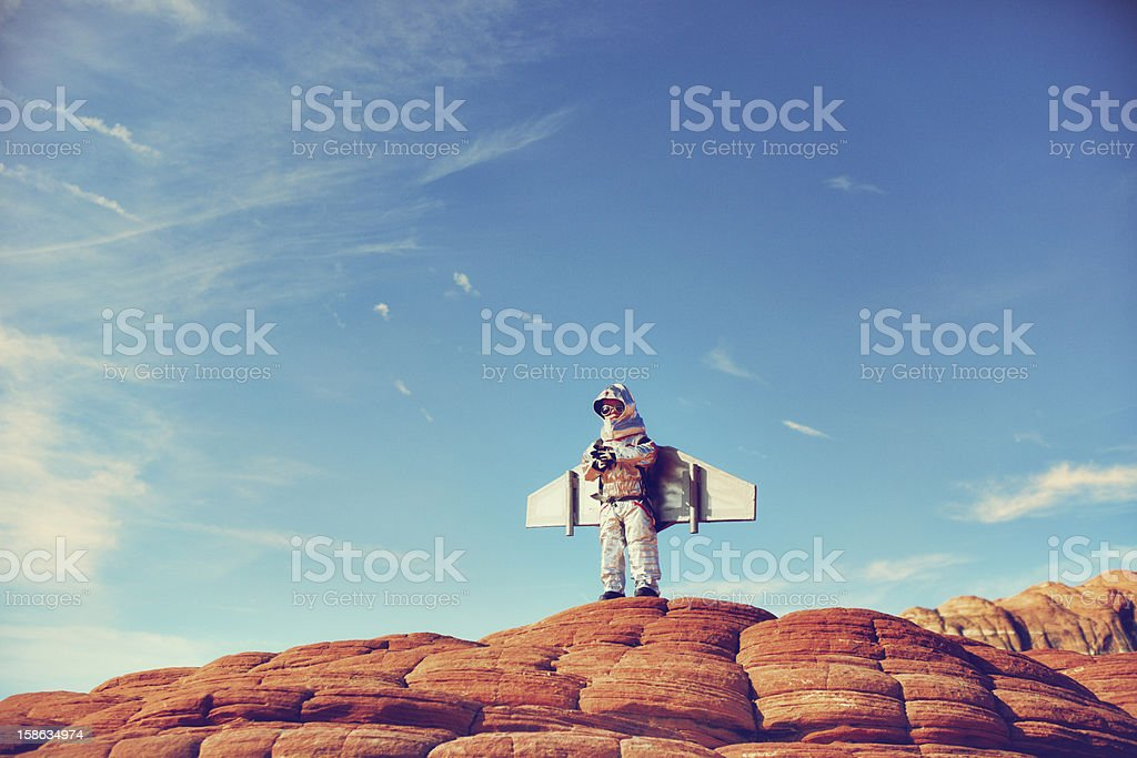 Jetpack Kid royalty-free stock photo