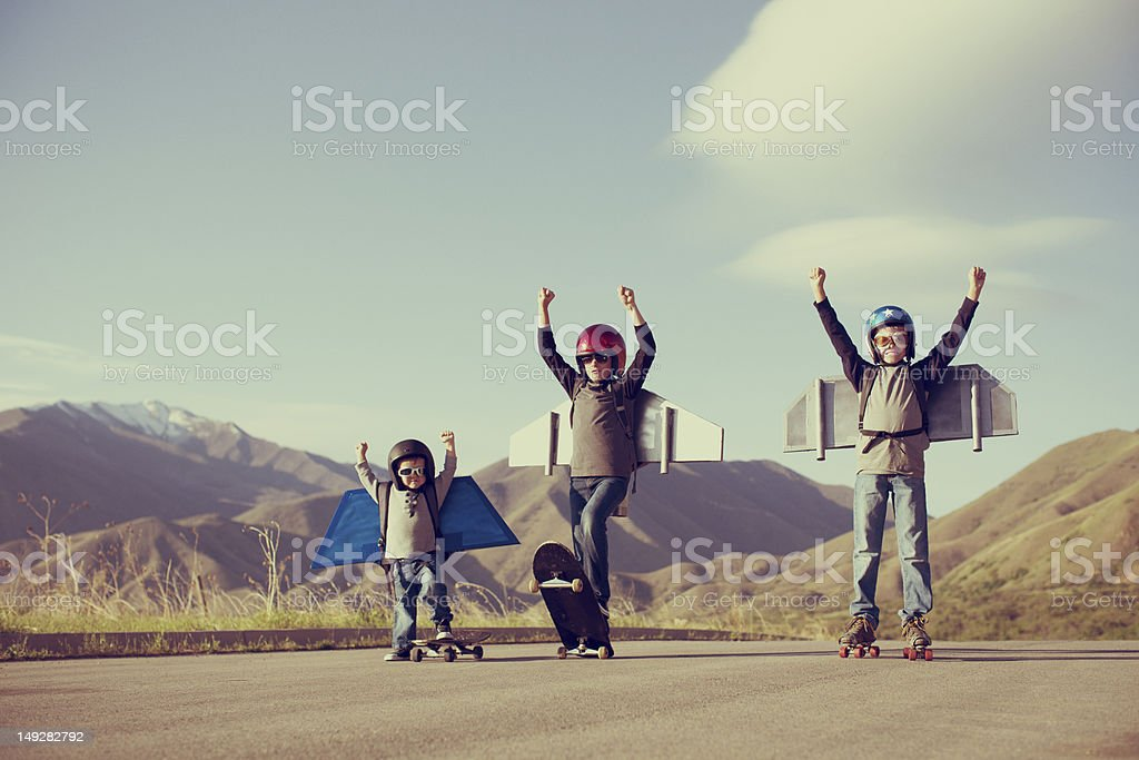 Jetpack Kids stock photo