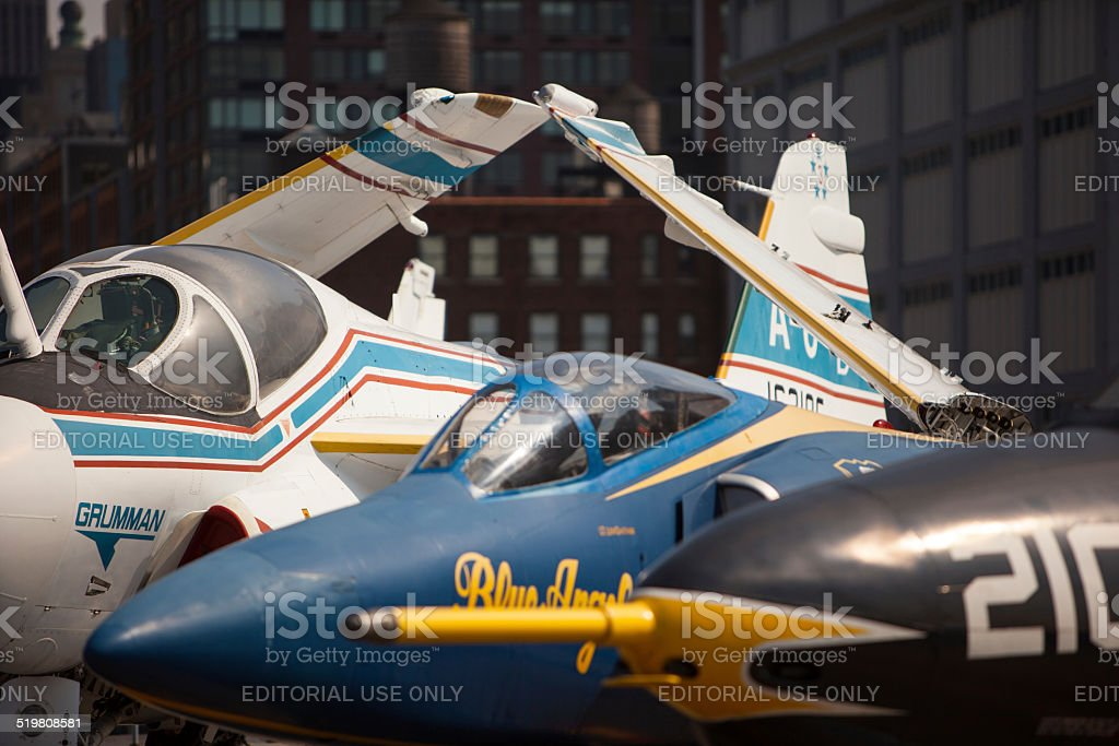 Jets at the Intrepid Air and Space Museum stock photo