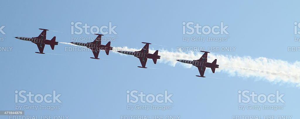 jets climb on a air show royalty-free stock photo
