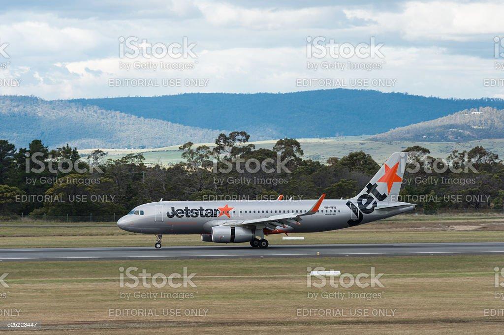 Jetstar Austrália passageiro Avião pousando foto royalty-free