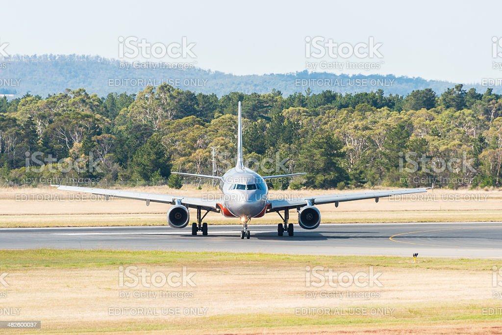 Jetstar Austrália passageiro avião Taxiando foto royalty-free