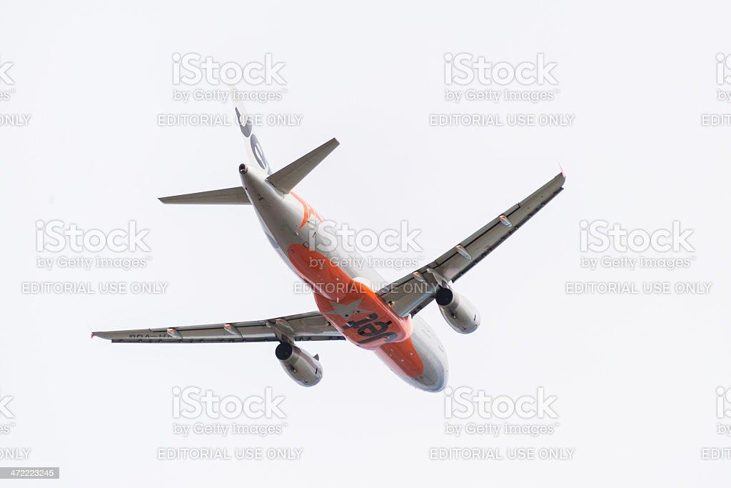 Jetstar passageiro avião decolando foto royalty-free