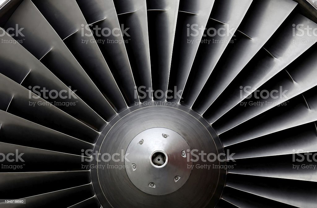 Jet-turbine stock photo