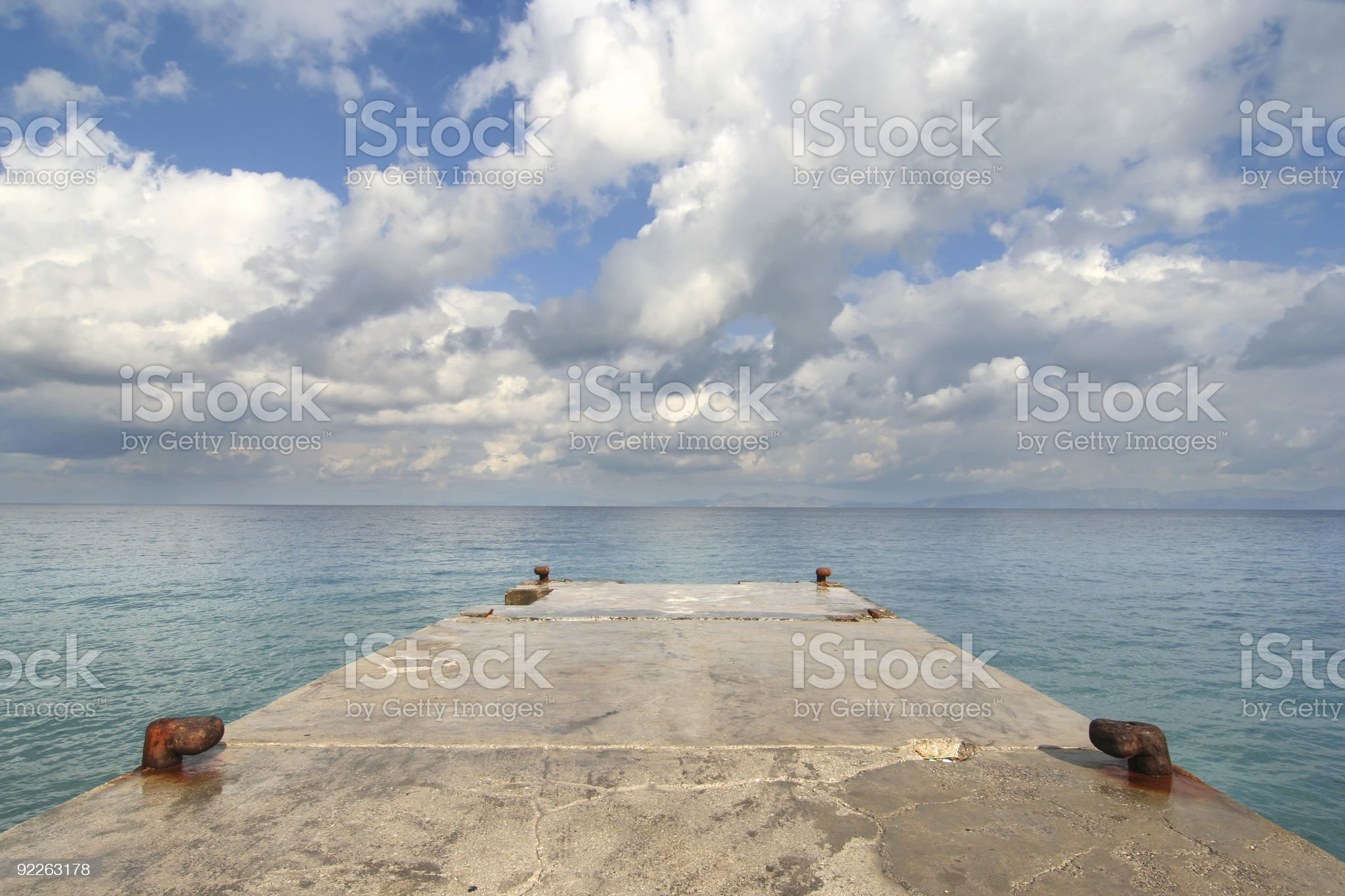 Jetty and Seascape royalty-free stock photo
