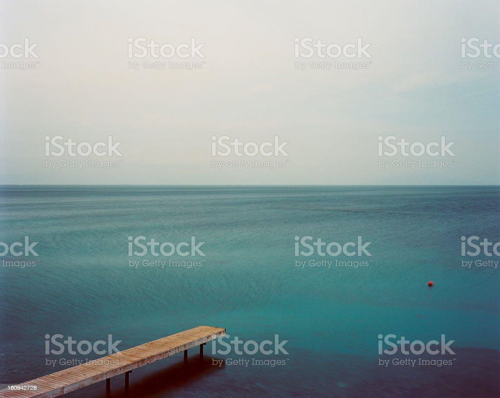 Jetty at Corfu Island, Greece royalty-free stock photo