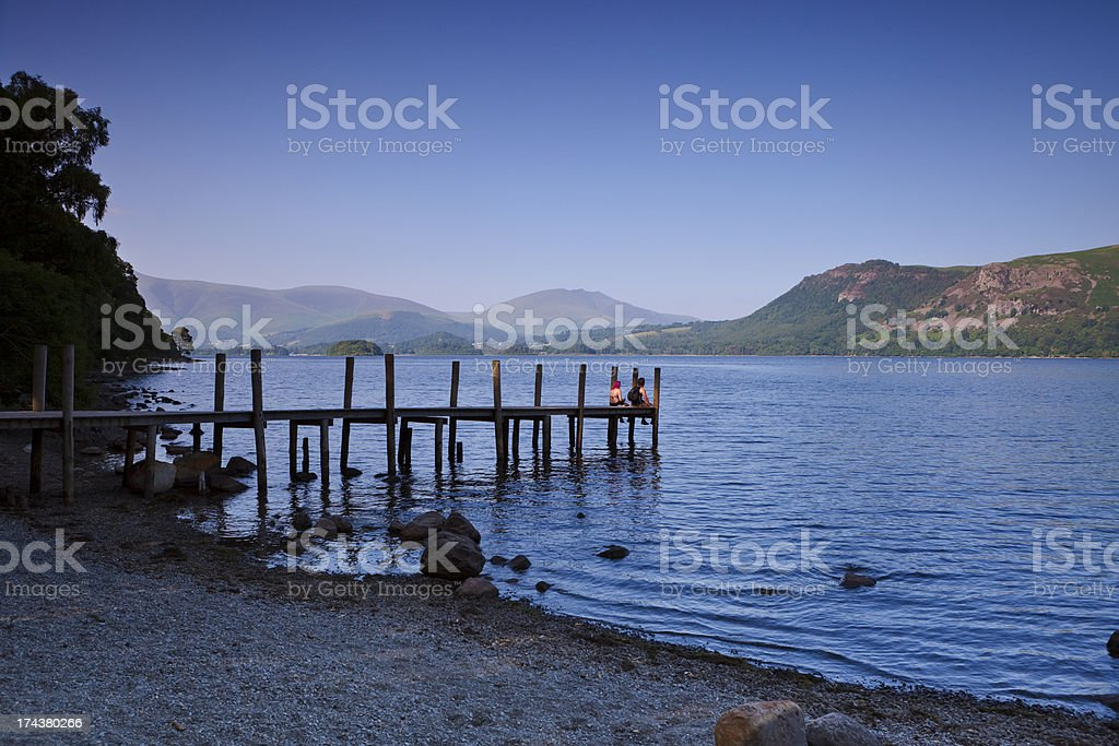 Jetty at Derwent Water royalty-free stock photo