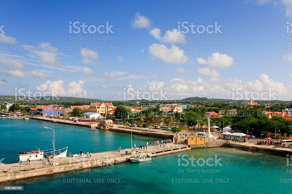 Jetty at Kralendijk, Bonaire stock photo