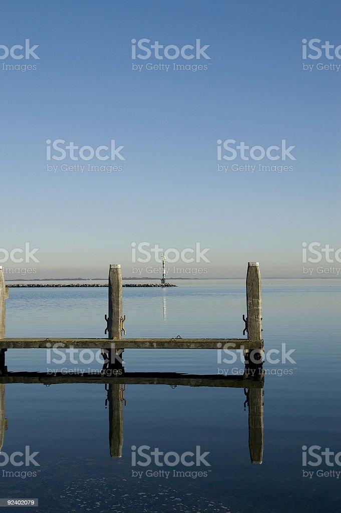 jetty at lake royalty-free stock photo