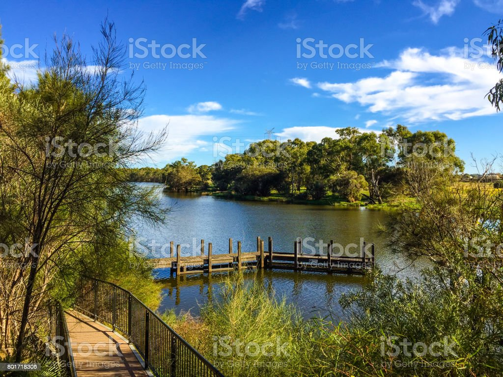 Jetty at the Swan Valley stock photo