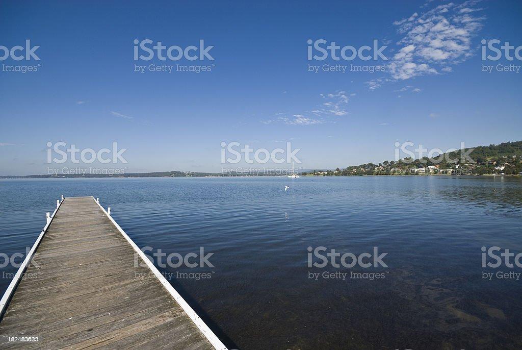 Jetty at Warners Bay, Lake Macquarie, NSW, Australia royalty-free stock photo