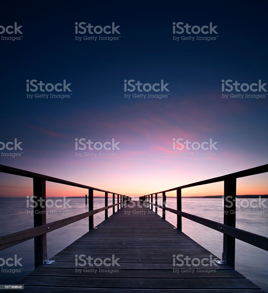 Jetty Bridge at Dawn royalty-free stock photo