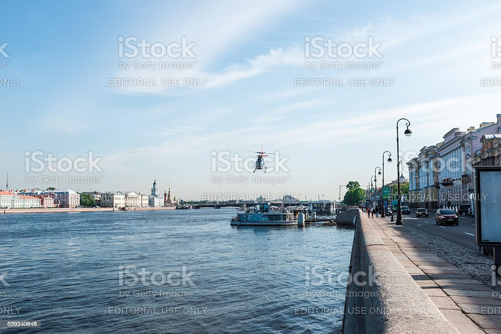 Jetty for helicopters stock photo