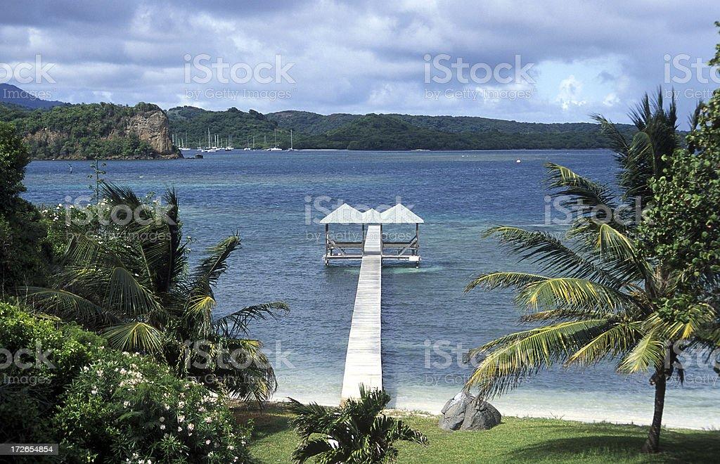 Jetty Grenada royalty-free stock photo