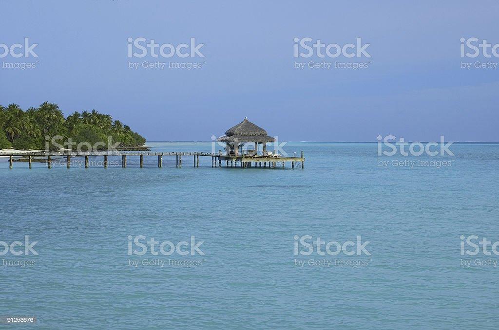 Jetty em tropical foto royalty-free