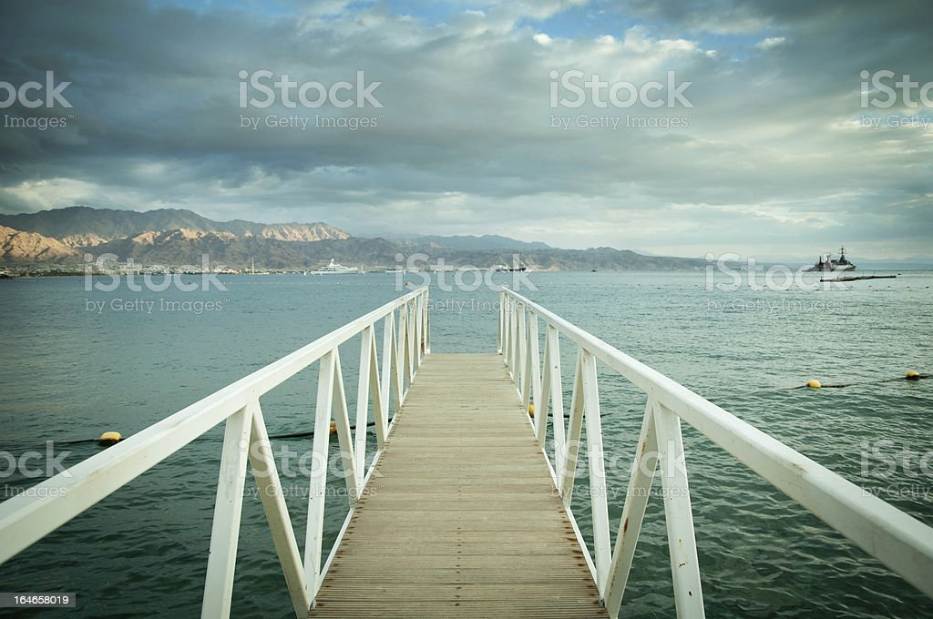 Jetty into Red sea royalty-free stock photo