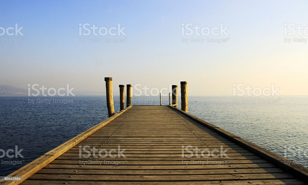 Jetty royalty-free stock photo