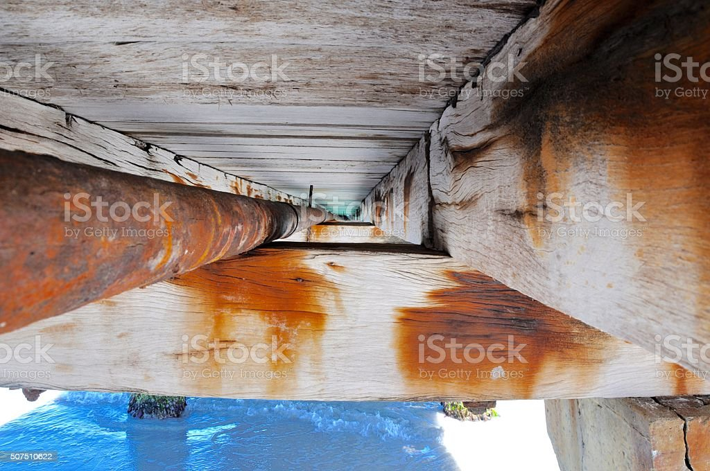 Jetty Structure Detail stock photo
