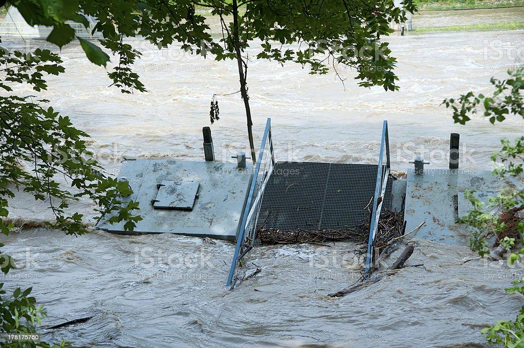 Jetty under water (Anlegesteg unter Wasser) royalty-free stock photo