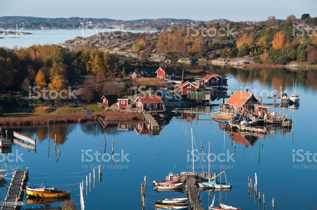 Jettys, Boats and Fishing huts stock photo