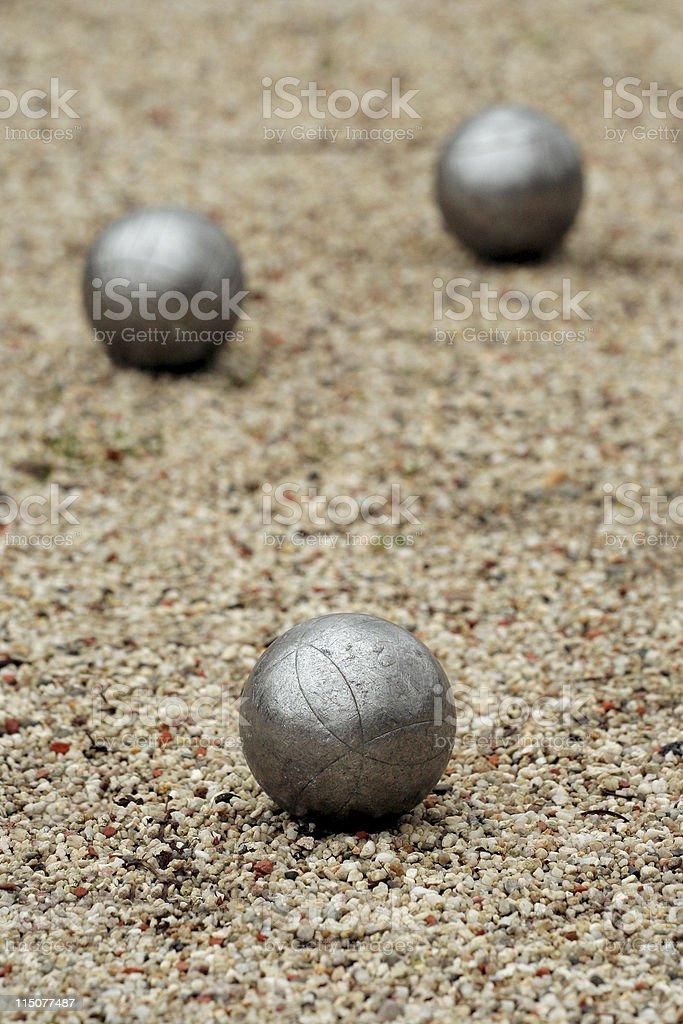 Jeux de boules or petanque stock photo