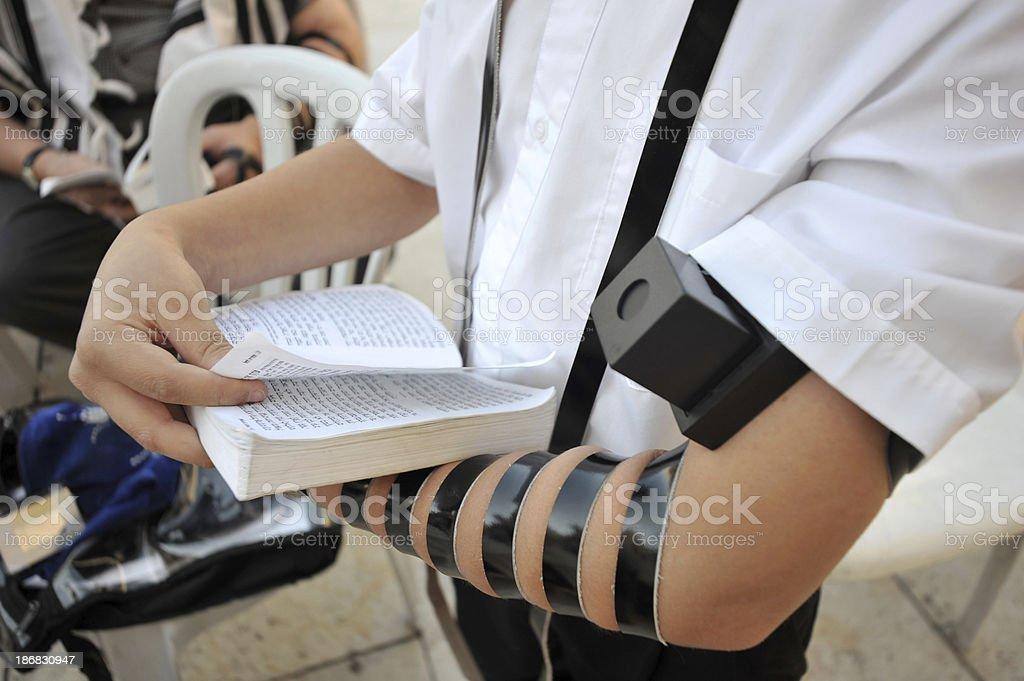 Jew Praying stock photo