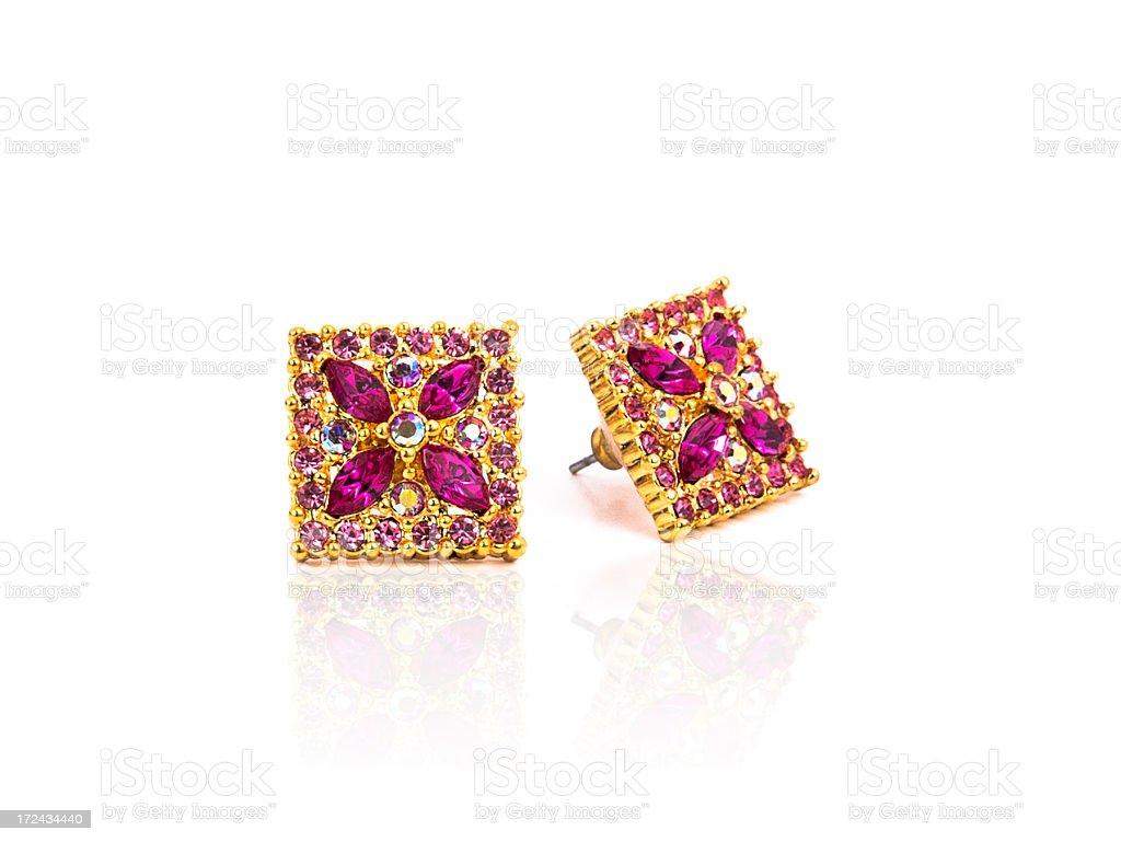Jewel Earrings royalty-free stock photo