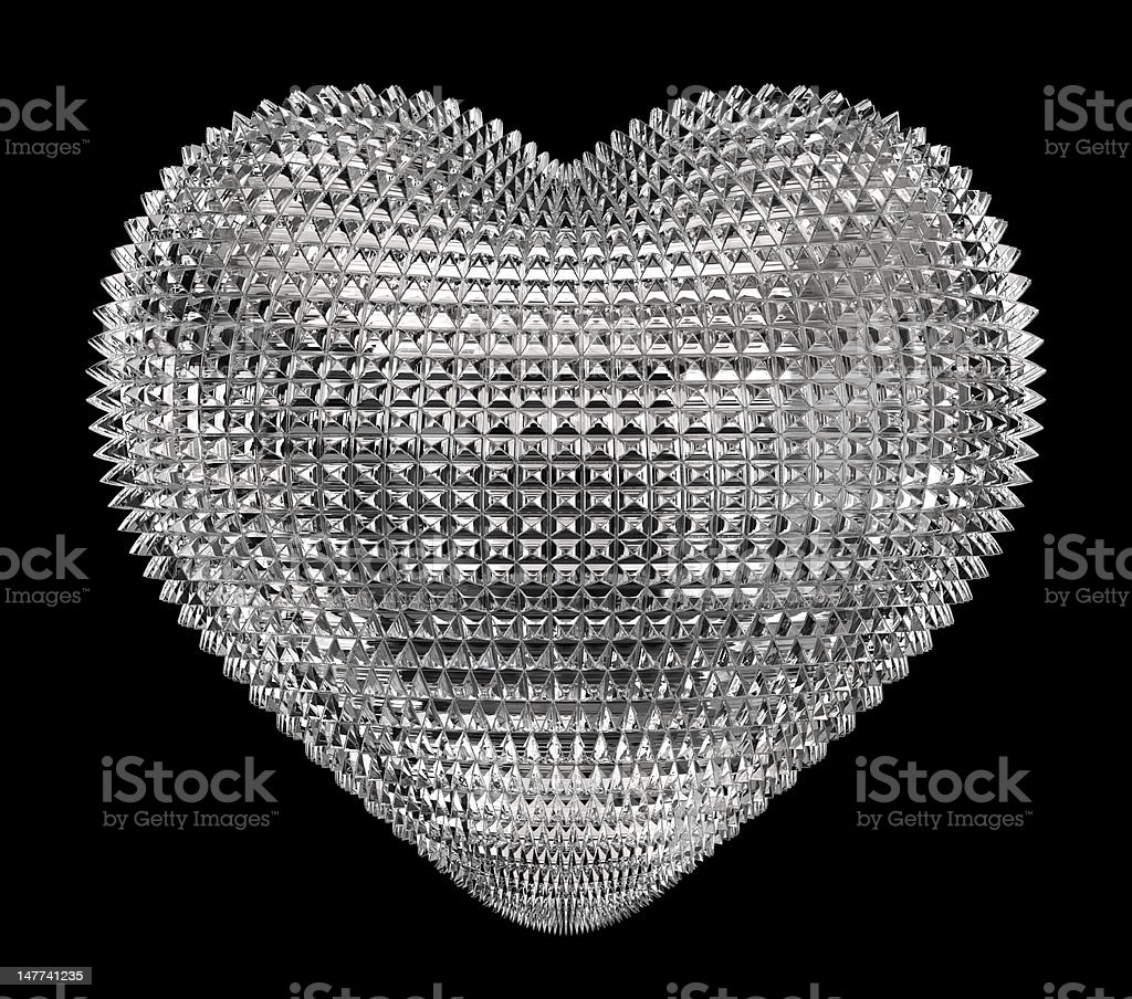 Jewel heart royalty-free stock photo