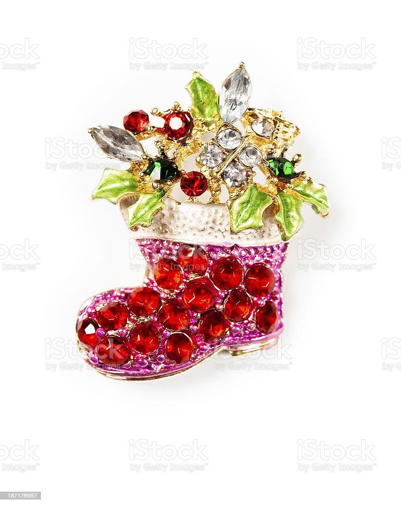Jeweled Christmas Boot royalty-free stock photo