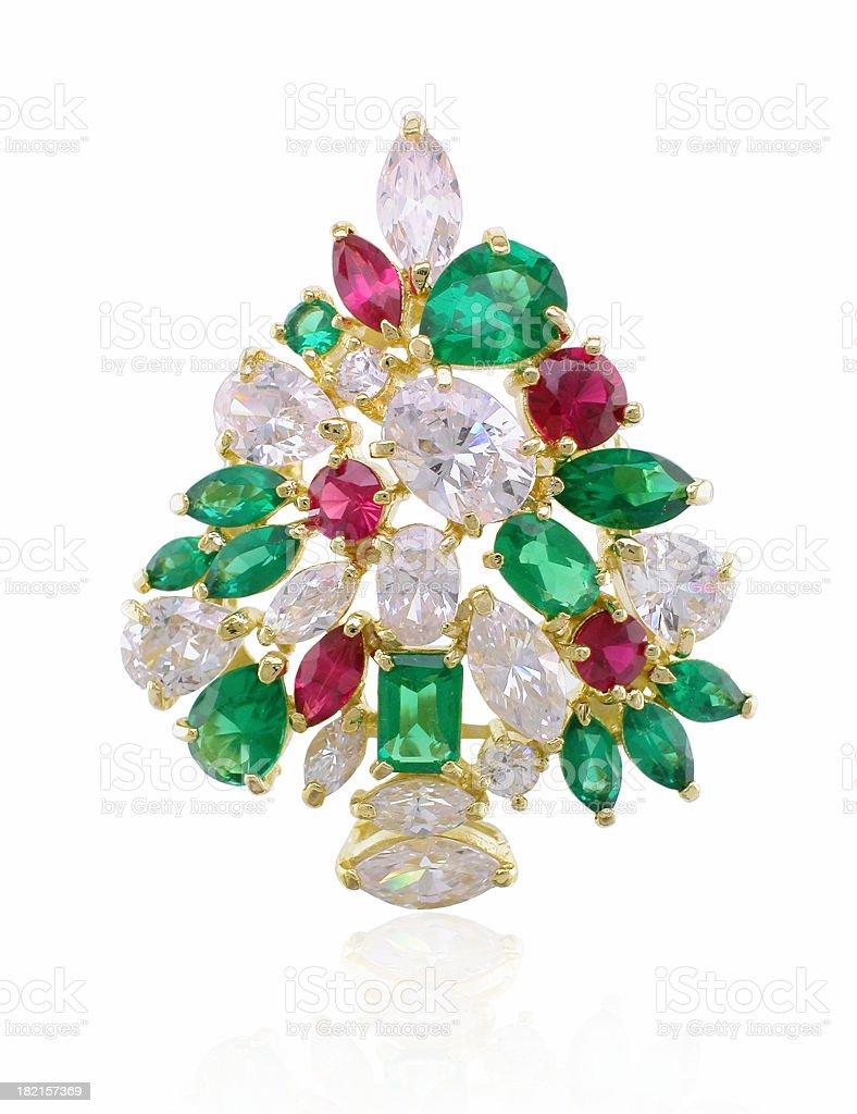 Jeweled Christmas Tree royalty-free stock photo