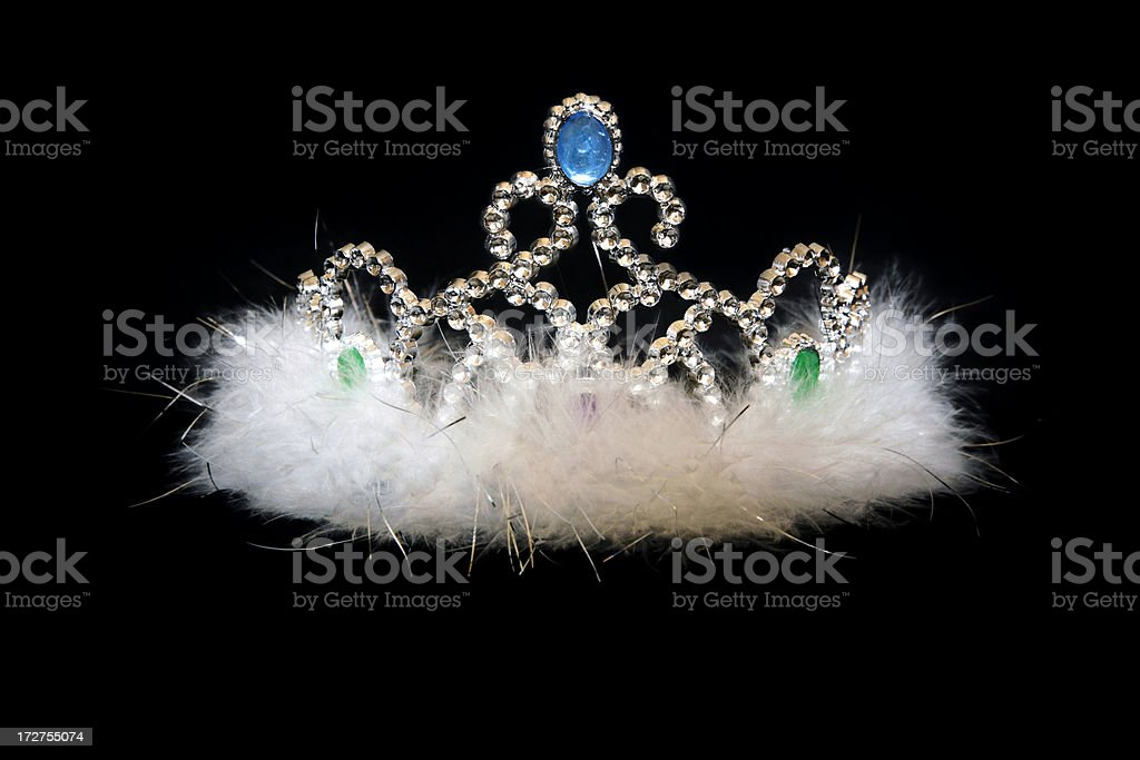 Jeweled tiara with feathers royalty-free stock photo