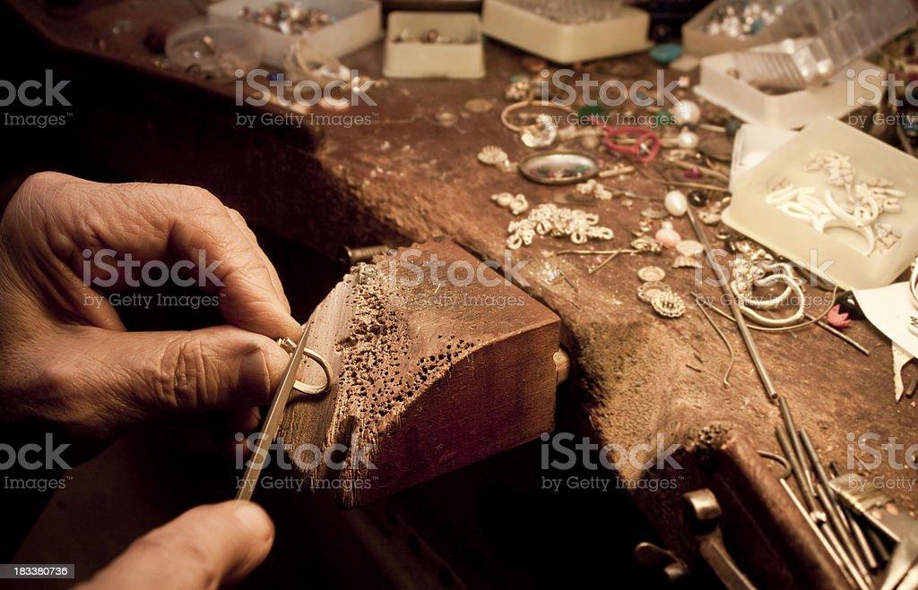 Jeweler royalty-free stock photo
