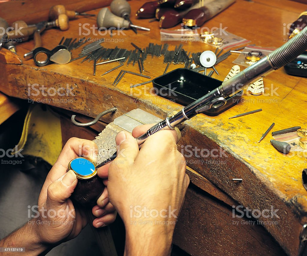 jeweler royalty-free stock photo