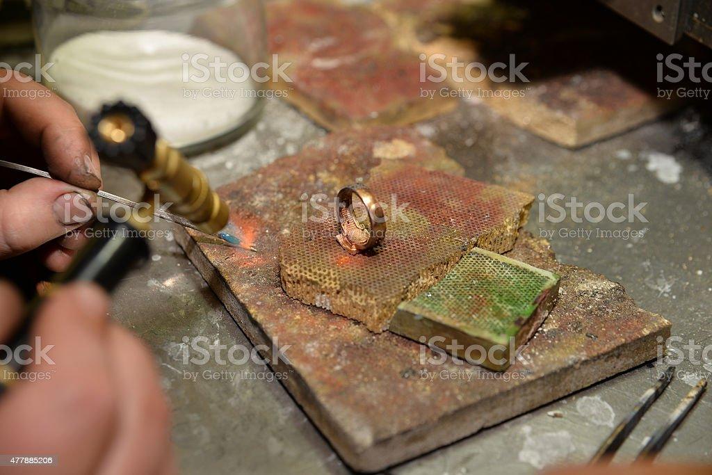 jeweler stock photo