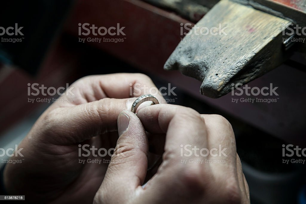 Jeweler's Bench stock photo