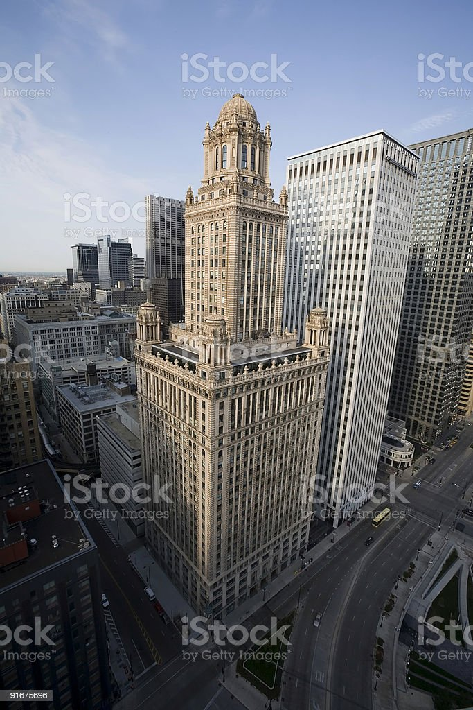 Jewelers Building. Chicago Skyscraper. royalty-free stock photo