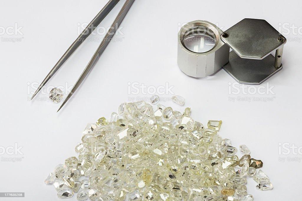 Jeweler's equipment stock photo