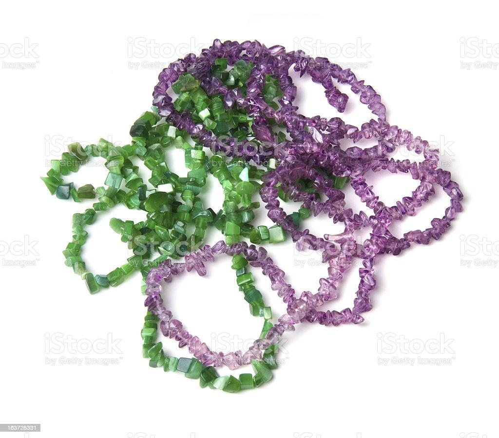 jewelery from gemstones royalty-free stock photo