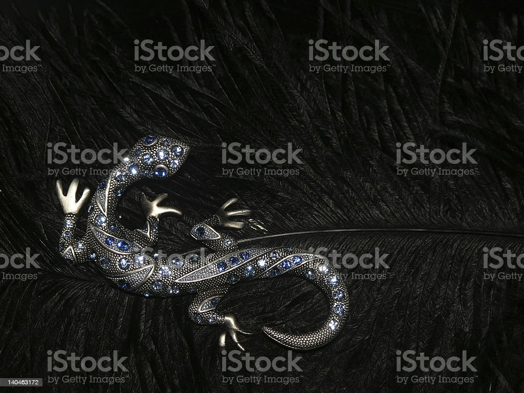 jewelery lizard royalty-free stock photo