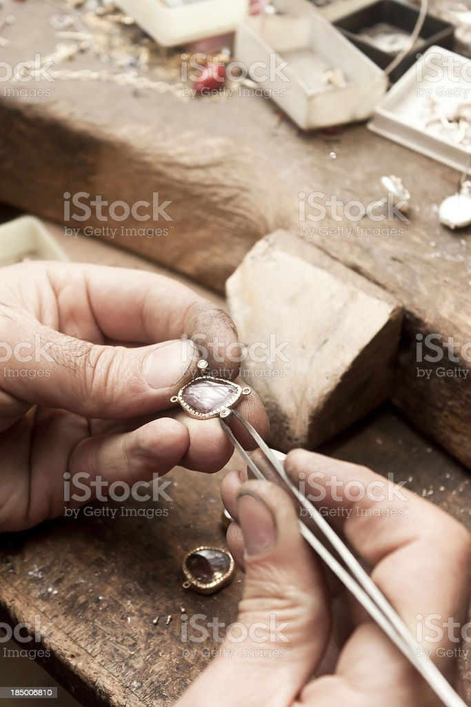 Jeweller stock photo