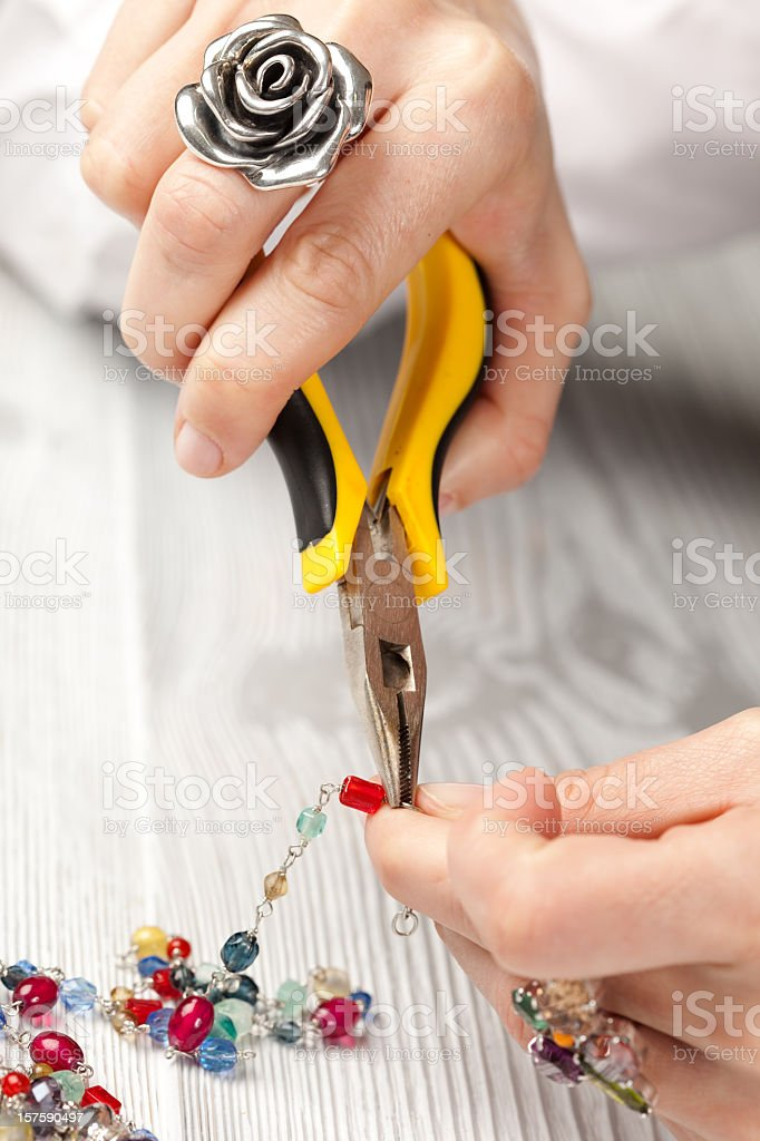 jeweller working royalty-free stock photo