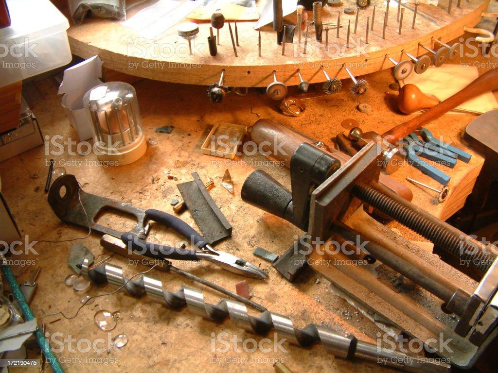 Jeweller's bench royalty-free stock photo