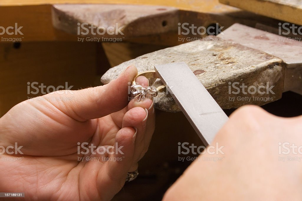 Jeweller's Hands stock photo