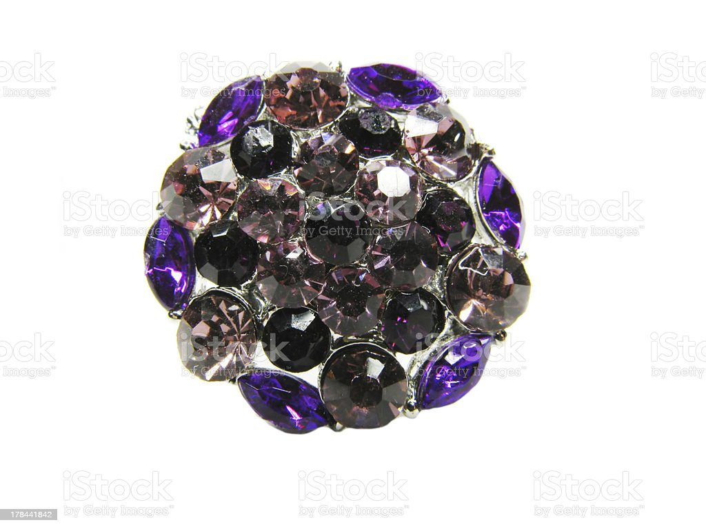 jewellery brooch with crystals royalty-free stock photo