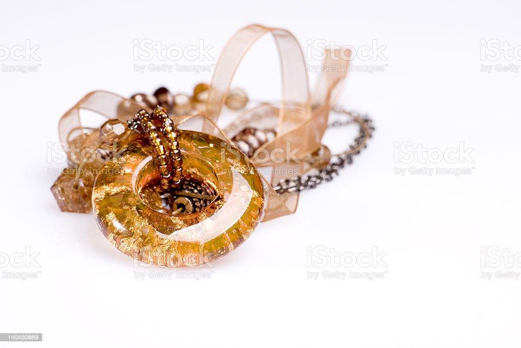 jewellery gold beads royalty-free stock photo