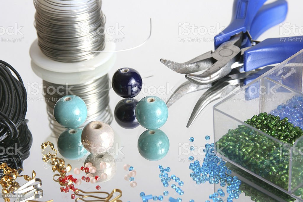 jewellery making accessories royalty-free stock photo