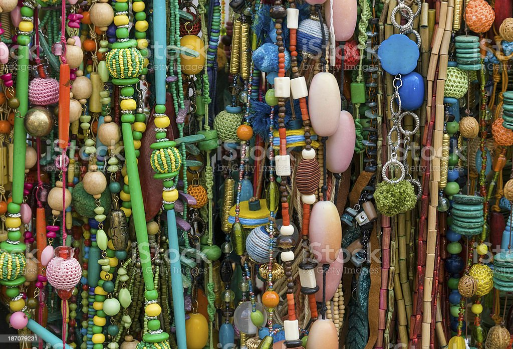 Jewellery market stall royalty-free stock photo